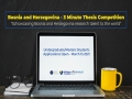 """Javni poziv za apliciranje na """"3 Minute Thesis Competition"""" za studente prvog i drugog ciklusa studija"""