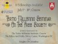 Invitation: 28th edition of The Summer Seminar
