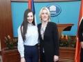 Кристина Копривица на пријему у палати Републике
